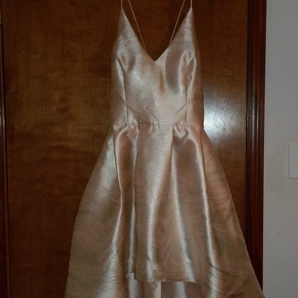 by & by Dresses & Skirts - High-low pale pink & silver dress w/pockets